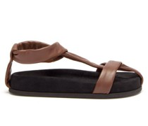Proxima Leather Flat Sandals