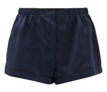 Tia Silk-satin Pyjama Shorts