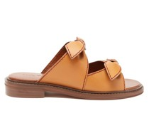 Kamilla Bow-front Leather Sandals