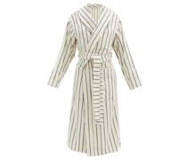 Striped Cotton-terry Bathrobe