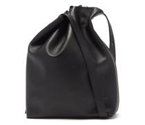 Marin Drawstring Grained-leather Shoulder Bag