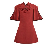 Holly Of Hollies Caped Cotton-blend Dress