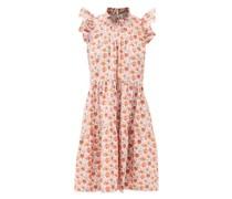 Leslie Ruffled Floral-print Cotton Dress