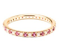 Eternity Diamond, Pink-sapphire & 14kt Gold Ring