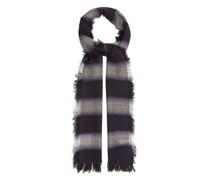 Shadow-stripe Wool-blend Scarf