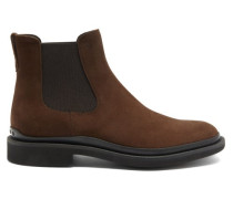 Rubber-sole Suede Chelsea Boots