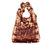 Twix Sequinned Recycled-satin Tote Bag