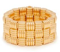 Intrecciato-woven Gold-plated Cuff