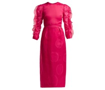 Polka-dot Fil-coupé Silk-blend Dress