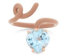 Tendril Topaz, Enamel & 9kt Rose Gold Ring
