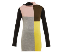 Colour-block Wool Sweater