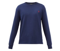 Logo-embroidered Cotton-jersey Long-sleeve T-shirt