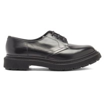 Tread-sole Leather Derby Shoes