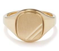 Square Step Gold-vermeil Signet Ring
