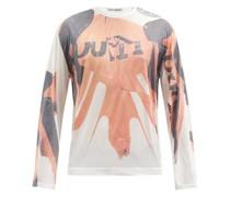 Biker-print Jersey Long-sleeved T-shirt