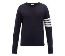 Four-bar Intarsia-stripe Wool Sweater