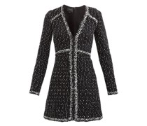 Flared Wool-blend Bouclé Mini Dress
