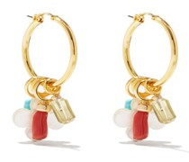 Artifact Coral, Turquoise & Gold-vermeil Earrings