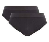 Pack Of Two Cotton-blend Briefs