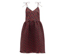 Tanita Pintucked Floral-print Cotton Dress