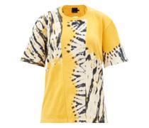 Oversized Tie-dye Cotton-blend T-shirt