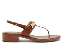 Sylvie Chain-embellished Leather Sandals