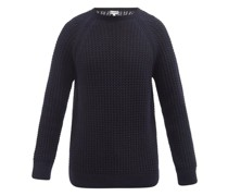 Waffle-knit Wool-blend Sweater