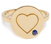 Heart Sapphire & 18kt Gold Ring
