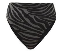 Imina Zebra-jacquard Recycled-fibre Bikini Briefs