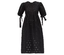 Hailey Flower-appliqué Cotton-blend Midi Dress