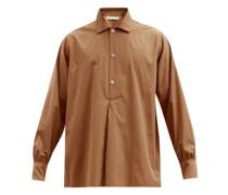 Julian Half-placket Cotton-blend Poplin Shirt