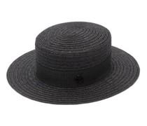 Kiki Hemp-straw Boater Hat