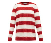 Oversized Striped Mohair-blend Sweater