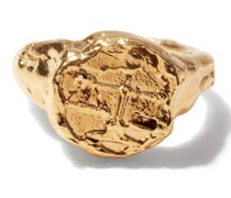 Libra 24kt Gold-plated Zodiac Ring