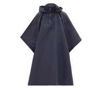 Hooded Cotton-blend Gabardine Cape Coat