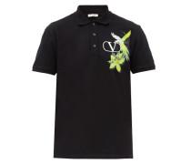 Parrot-print Cotton-jersey Polo Shirt