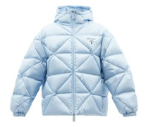 Hooded Quilted Down Re-nylon Jacket