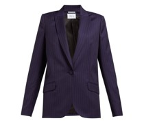 Single-breasted Pinstripe Wool Jacket