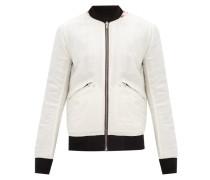 Reversible Printed Cotton-blend Bomber Jacket