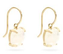 Love Medium Rainbow-moonstone & 18kt Gold Earrings