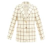 Judah Windowpane-check Wool-blend Jacket