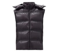 Harold Hooded Down Quilted Gilet