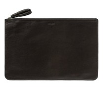 Logo-print Leather Pouch