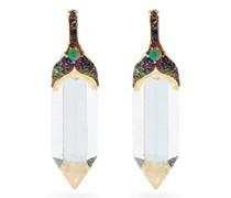 Kamala Sapphire, Opal & 18kt Gold Drop Earrings