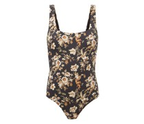 Amerie Square-neck Floral-print Swimsuit