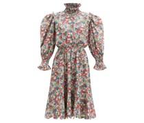 Collia Smocked Floral-print Cotton Dress