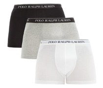 Pack Of Three Logo-jacquard Boxer Briefs