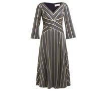 Striped Lamé-jacquard Dress