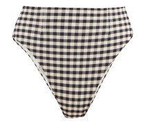 High-rise Checked Bikini Briefs
