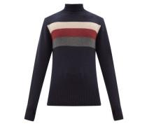 Talbot Striped Roll-neck Wool Sweater